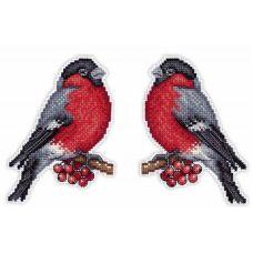 Набор для вышивания крестом на пластиковой основе Вестник зимы, 13x9, Жар-Птица (МП-Студия)