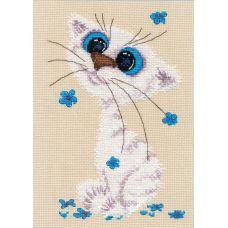 Набор для вышивания крестом Кошка-крошка, 12x18, Овен