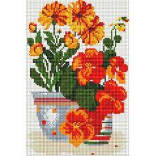 Алмазная мозаика Солнечные цветы, 20x30, полная выкладка, Белоснежка