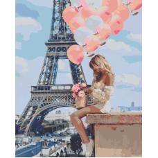 Живопись по номерам Романтика Парижа, 40x50, Hobruk, U8035