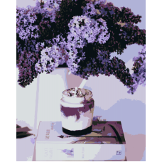 Живопись по номерам Сирень и йогурт, 40x50, Hobruk, HS1071