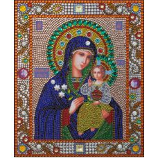 Алмазная вышивка термостразами Богородица Неувядаемый Цвет, Преобрана