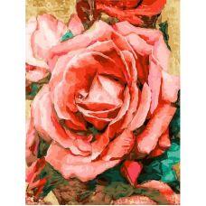 Живопись по номерам Благородная роза, 30x40, Белоснежка