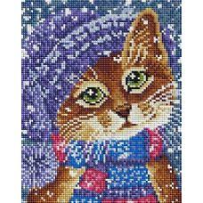 Алмазная мозаика Зимняя мода, 20x25, полная выкладка, Белоснежка