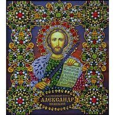 Набор для вышивания хрустальными камнями Святой Александр Невский, 16,5x19, Хрустальные Грани