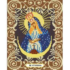 Канва с рисунком Богородица Остробрамская, 20x25, Божья коровка