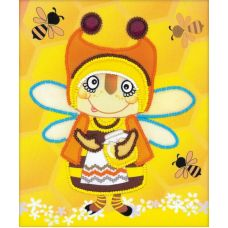 Набор для вышивания бисером Бабушка пчела, 15x18, Риолис, Сотвори сама