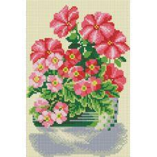 Алмазная мозаика Милые цветы, 20x30, полная выкладка, Белоснежка