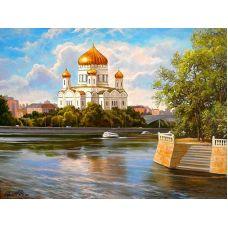 Живопись по номерам Храм Христа Спасителя, 40x50, Paintboy, GX27335