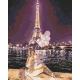 Живопись по номерам Ночной Париж, 40x50, Hobruk, U8073