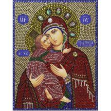 Алмазная вышивка термостразами Владимирская Богородица, Преобрана