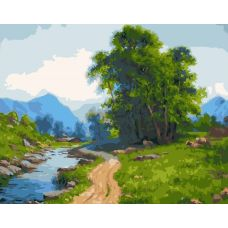Живопись по номерам Дорожка вдоль реки, 40x50, Paintboy, GX25474