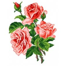 Набор для вышивания крестом Розы, 28x37 (17x22), Матренин посад