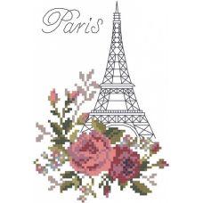 Набор для вышивания крестом Париж, 20x22 (10x15), Матренин посад