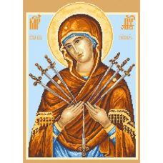 Набор для вышивания крестом Икона Семистрельная, 37x49 (29x39), Матренин посад